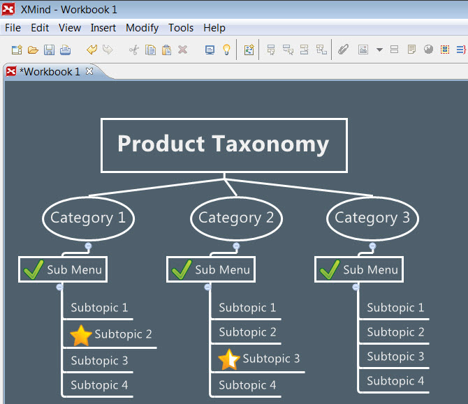 Xmind is a great application that aids the determination, positioning, and hierarchy of your menu system's taxonomy. Making key decisions now about your invention will help you save time when later versions of your offering come out.